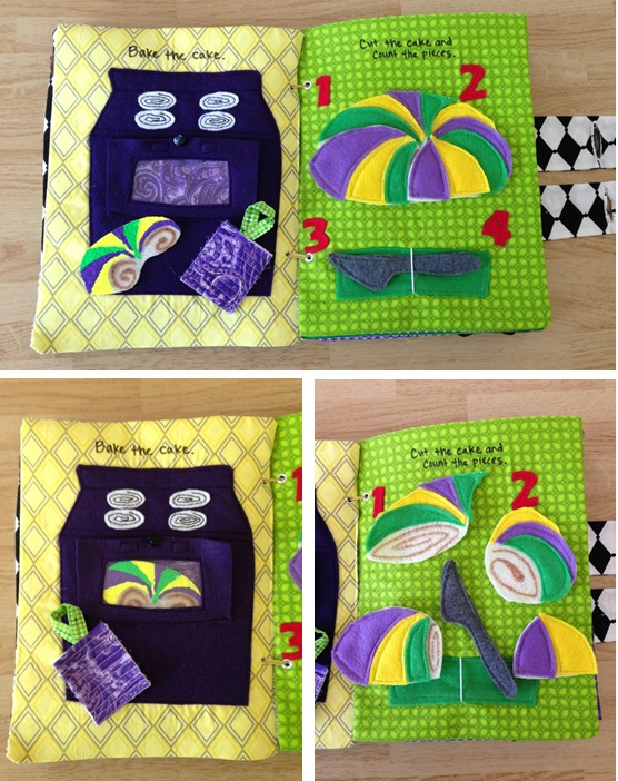 mardi gras quiet book by EastDakotaQuilter