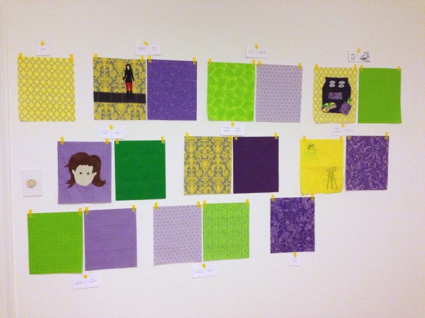 design wall for mardigrasbook by EastDakotaQuilter