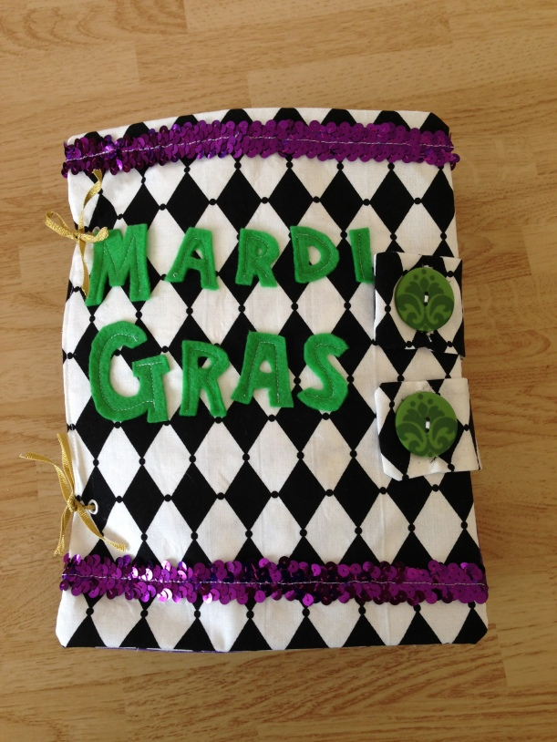 mardi gras quiet book cover by EastDakotaQuilter