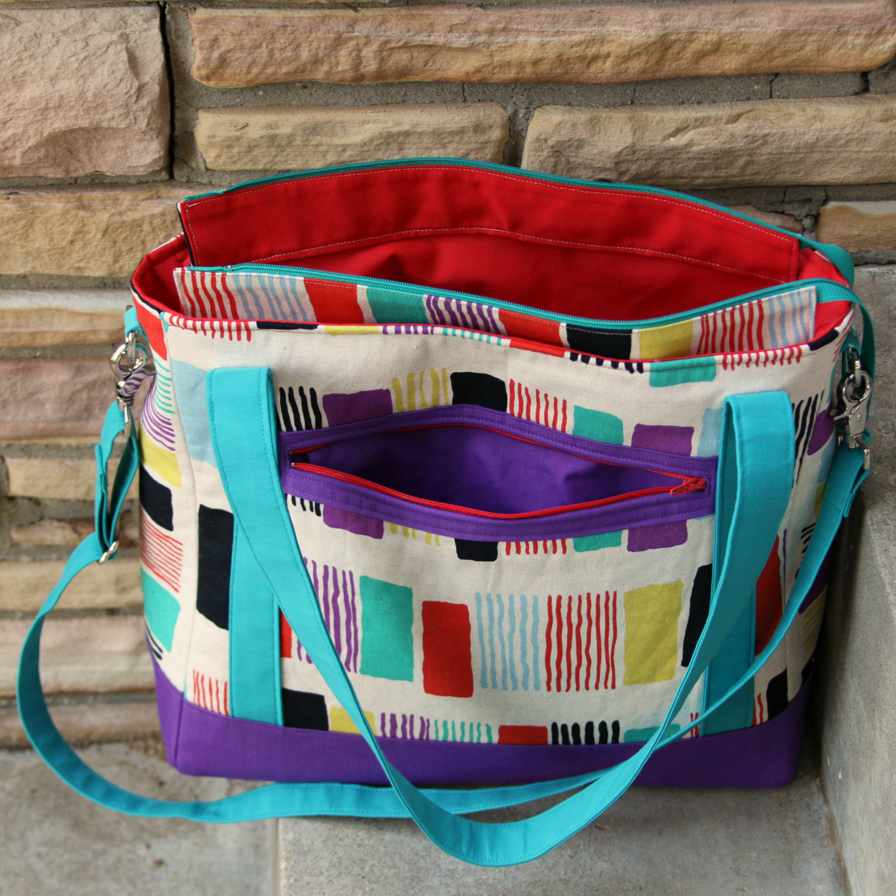 Tudor Bag by East Dakota Quilter - zipper