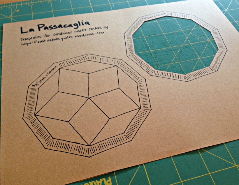 Cut Out Passacaglia Template Center by East Dakota Quilter